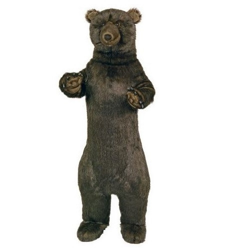 Standing 4 ft Grizzly Bear Plush Stuffed Animal