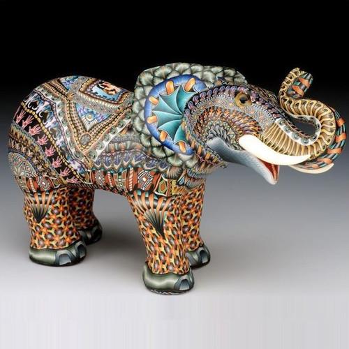 Elephant Papa Figurine