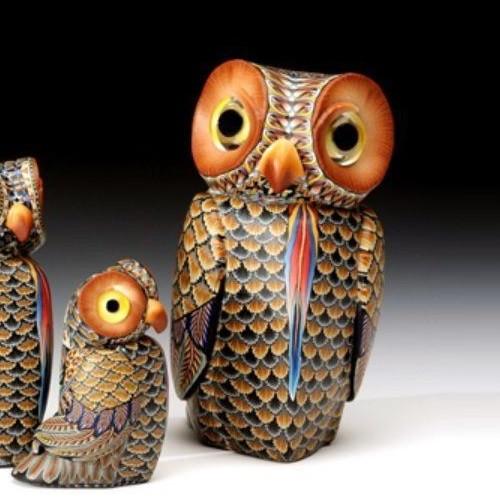 Owl Papa Figurine