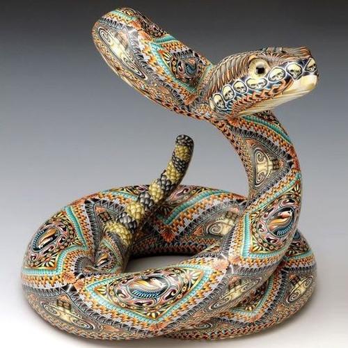 Rattlesnake Jumbo Figurine   FimoCreations   FCFRSJ