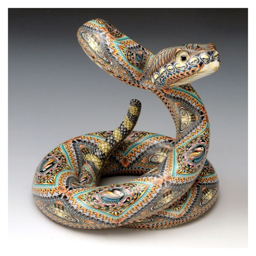 Rattlesnake Papa Figurine   FimoCreations   FCFRSP