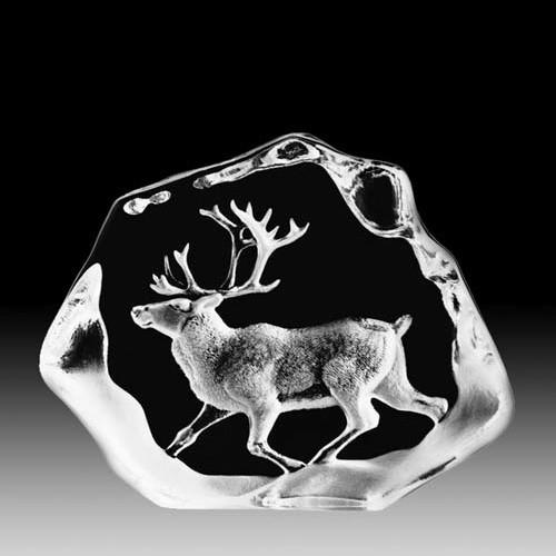 Reindeer Walking Crystal Sculpture | 33399