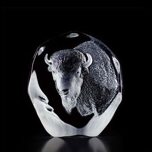 Buffalo Crystal Sculpture | 33535