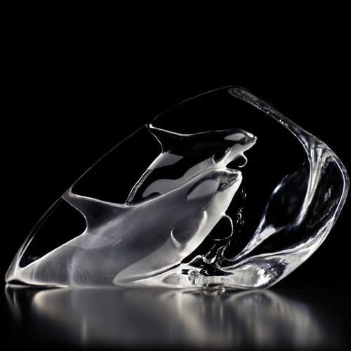 Killer Whales Crystal Sculpture | 33577