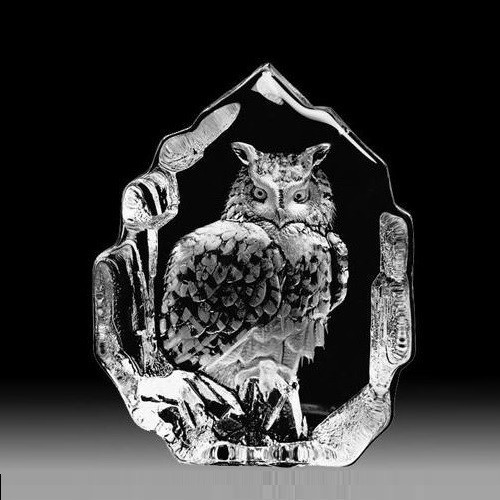 Eagle Owl Crystal Sculpture | 33600
