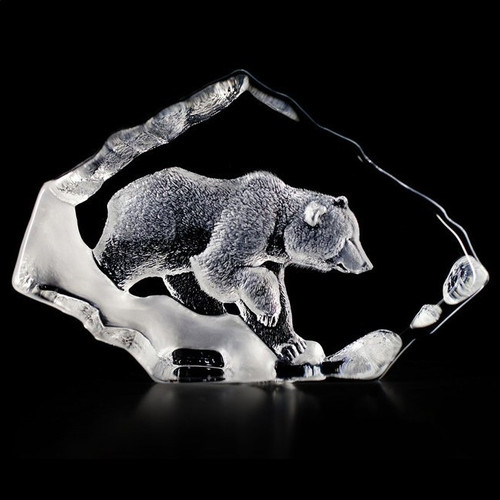 Grizzly Bear Crystal Sculpture | 33607