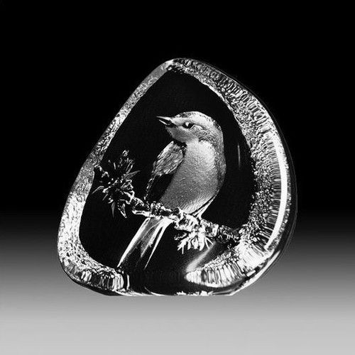 Flycatcher Crystal Bird Sculpture | 33638