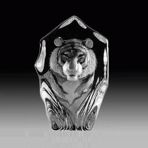 Tiger Face Crystal Sculpture   33686