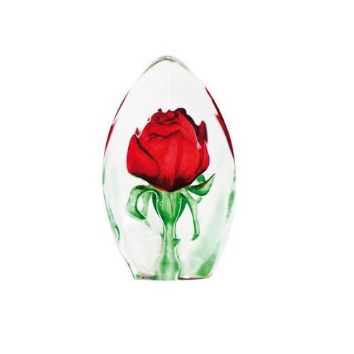 Red Rose Crystal Sculpture | 33838