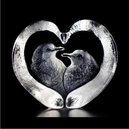 Turtle Doves Crystal Sculpture | 33849