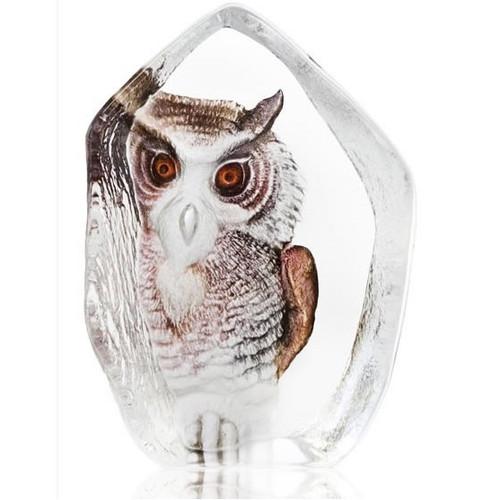 Owl Crystal Sculpture   33863   Mats Jonasson Maleras