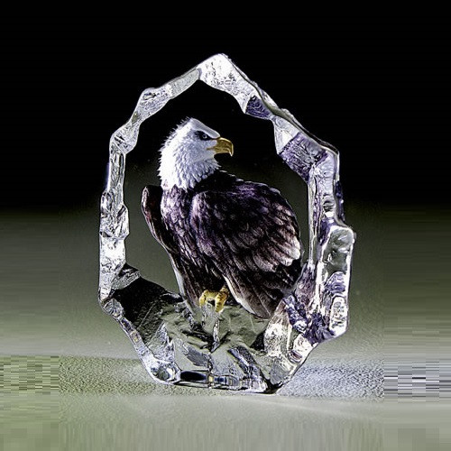 Color Eagle Crystal Sculpture | 33893