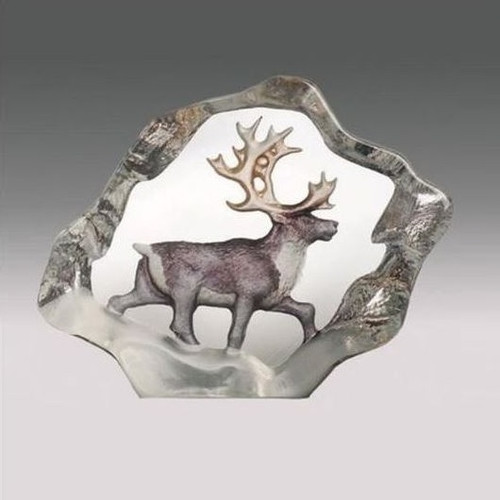 Reindeer Mini Color Crystal Sculpture | 88170