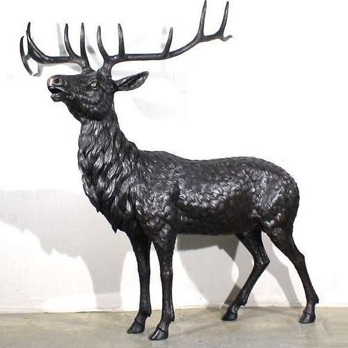 Elk Life Size Bronze Outdoor Statue
