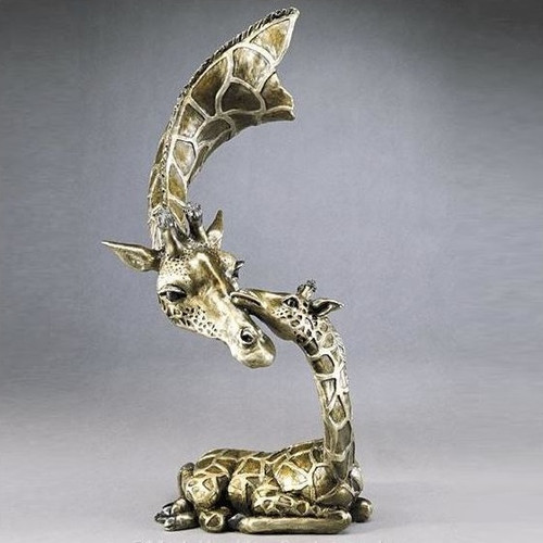 """Giraffe Bronze Sculpture """"Little One"""""""