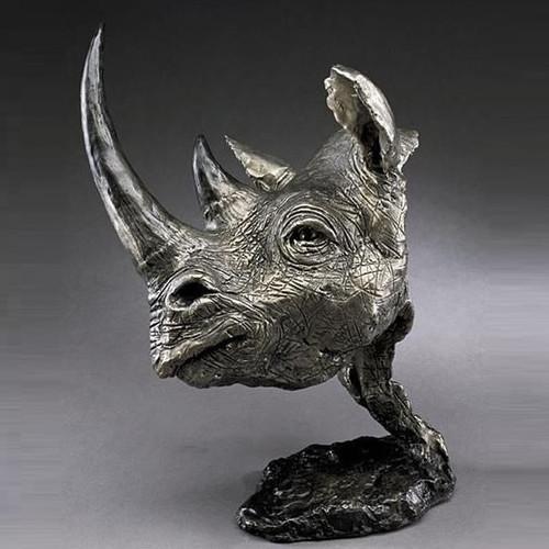 Black Rhino Bronze Sculpture