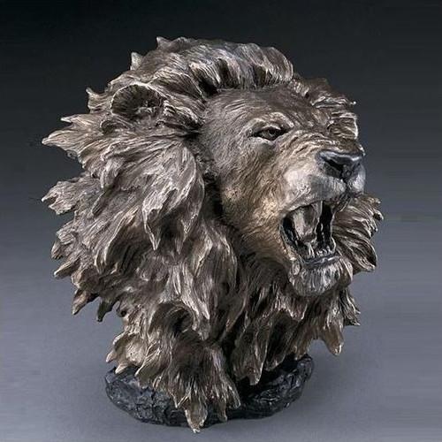 """Lion Bronze Sculpture """"Dominance"""""""