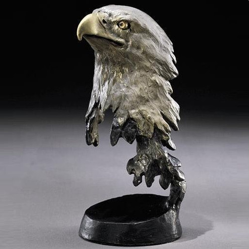 "Bronze Eagle Sculpture ""Liberty"""