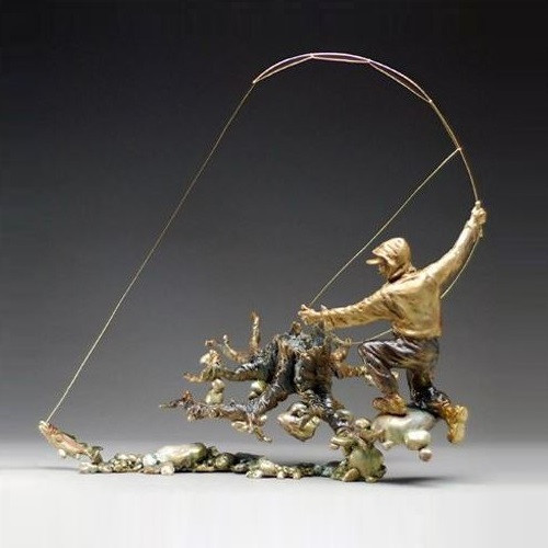"Fisherman Sculpture ""The Strike"""