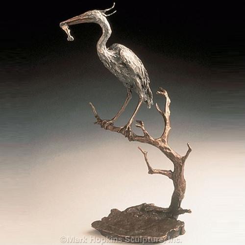 Heron Bronze Sculpture