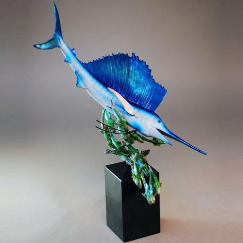 "Sailfish Sculpture ""Ocean Lightning"""
