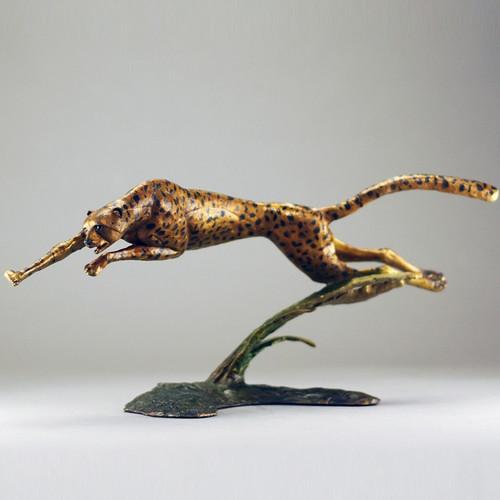 Cheetah Bronze Sculpture