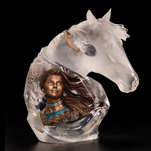 """Horse Sculpture """"Running Wind"""""""