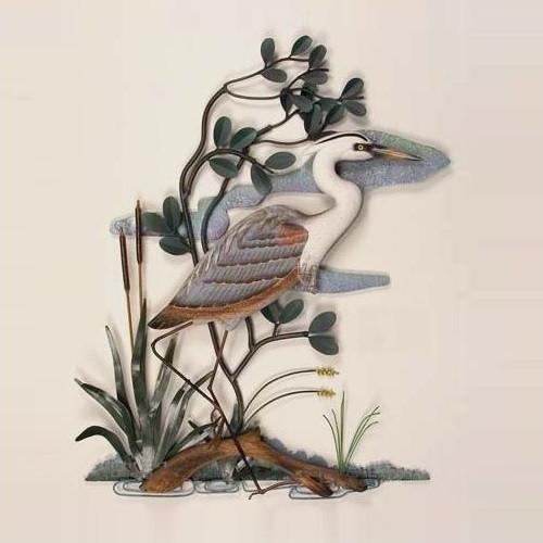 Heron in Mangrove Wall Sculpture
