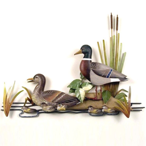 Duck Family Wall Sculpture