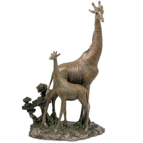 Giraffe and Baby Sculpture