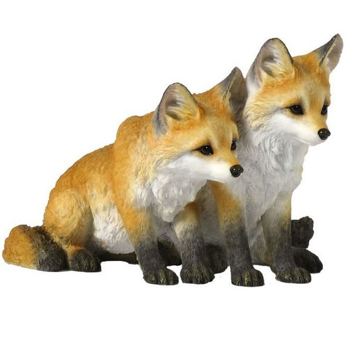 Fox Pups Sculpture