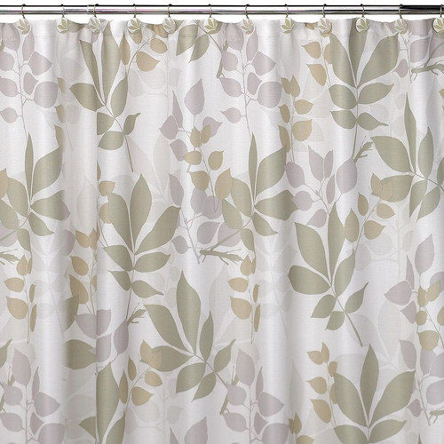 Shadow Leaves Shower Curtain & Hooks Set