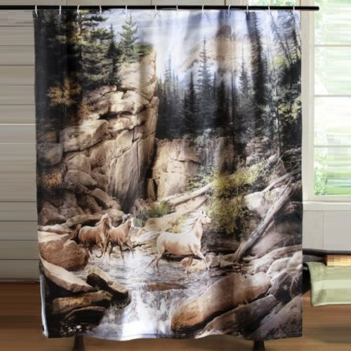 Horse Canyon Shower Curtain
