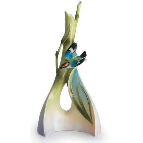 Bamboo Songbird Triangle Vase | fz00571