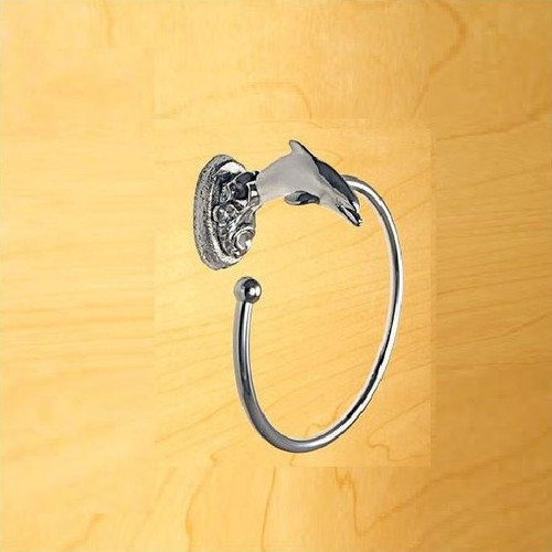 Dolphin Chrome Towel Ring