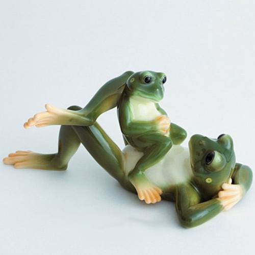 Frog Collection Father & Son Figurine