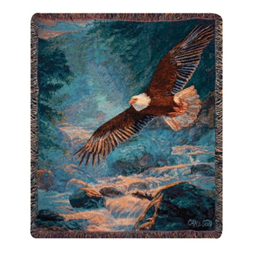 Eagle Tapestry Cotton Throw Blanket