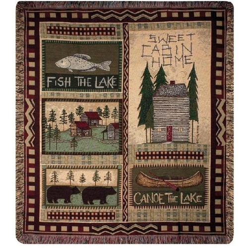 Bear Lodge Throw Blanket