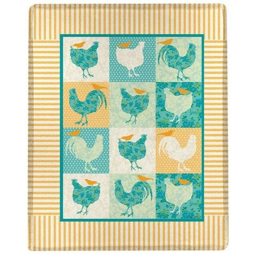 Rooster and Chicken Throw Blanket