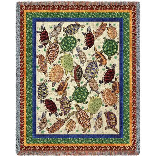 Turtle Tapestry Throw Blanket