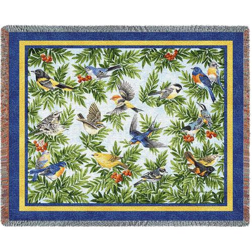 Songbird Woven Throw Blanket