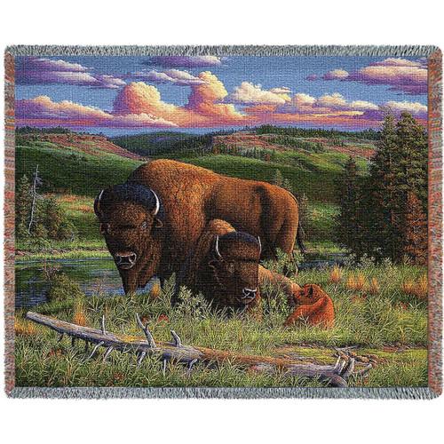 Buffalo Nation Woven Throw Blanket