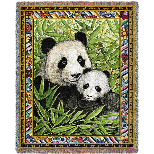 Panda Woven Throw Blanket   Pure Country   pc5588T