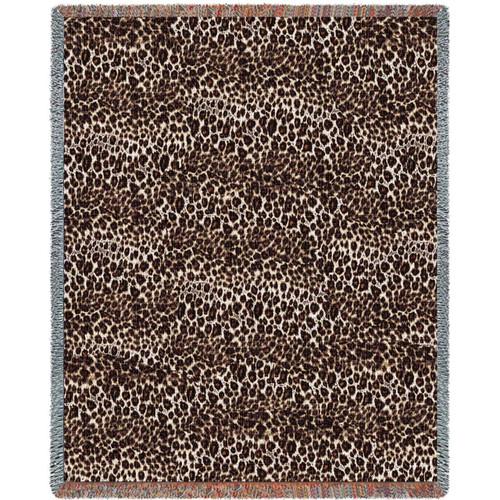 Cheetah Print Woven Throw Blanket