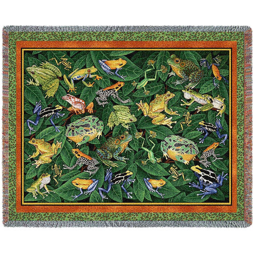 Leap Frog Tapestry Throw Blanket