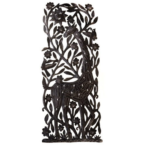 Giraffe Metal Wall Sculpture