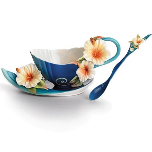 Island Hibiscus Cup, Saucer Spoon | FZ01779