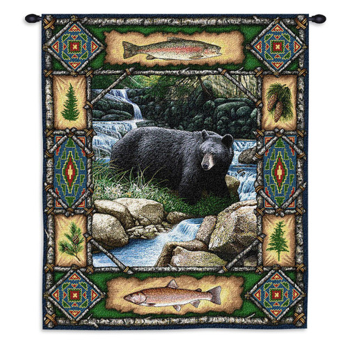 Black Bear Lodge Tapestry Wall Hanging
