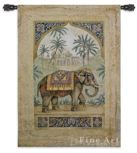 Old World Elephant I Tapestry Wall Hanging