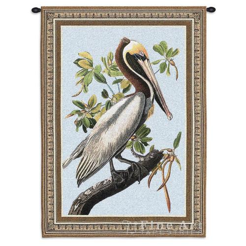 Brown Pelican Tapestry Wall Hanging
